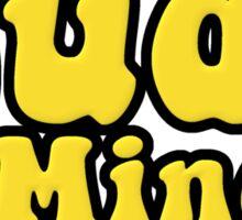 The Dude Minds, Man Sticker