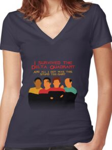 Voyages in the Delta Quadrant Women's Fitted V-Neck T-Shirt
