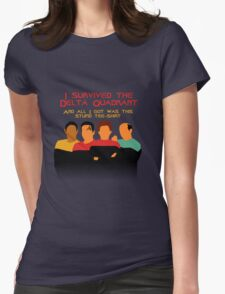 Voyages in the Delta Quadrant Womens Fitted T-Shirt