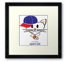 HeartKity Sport Cat Framed Print
