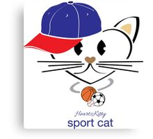 HeartKity Sport Cat Canvas Print