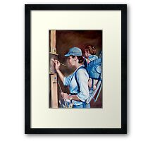 A happy painter  Framed Print