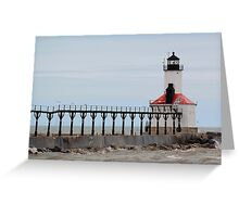 Michigan City Lighthouse Greeting Card