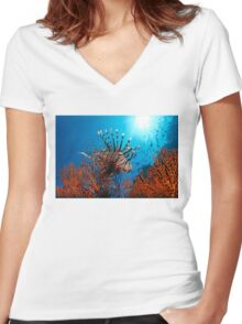 Spiny Beauty Women's Fitted V-Neck T-Shirt