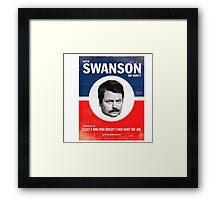 Vote Ron Swanson Framed Print