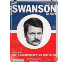 Vote Ron Swanson iPad Case/Skin