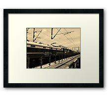 Vanishing Train Framed Print