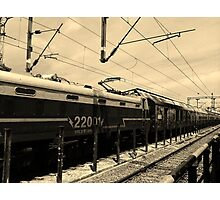 Vanishing Train Photographic Print