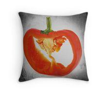 Sliced Red Pepper Throw Pillow