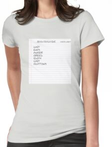 Naughty Captain Crieff  Womens Fitted T-Shirt