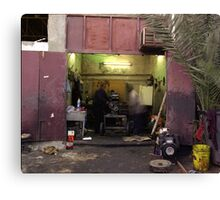 Kuwait Mechanics At Work Canvas Print