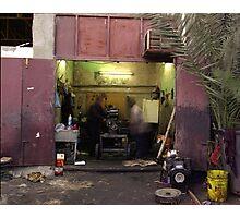Kuwait Mechanics At Work Photographic Print