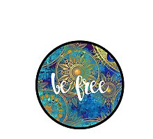 Be Free Sticker by Kristin Sheaffer