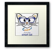 HeartKitty Smart Cat Framed Print