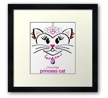 HeartKitty Princess Cat Framed Print