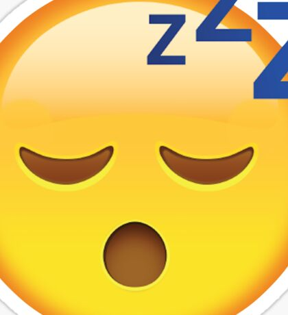 Tired Emoji Sticker
