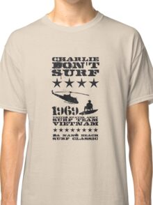 Surf team vietnam - Charlie don't surf - Black Classic T-Shirt