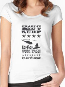 Surf team vietnam - Charlie don't surf - Black Women's Fitted Scoop T-Shirt