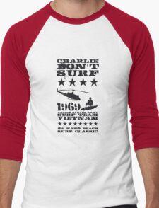 Surf team vietnam - Charlie don't surf - Black Men's Baseball ¾ T-Shirt