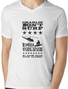 Surf team vietnam - Charlie don't surf - Black Mens V-Neck T-Shirt