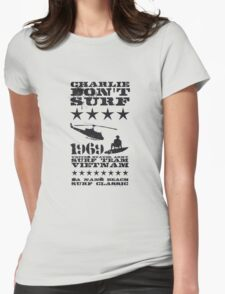 Surf team vietnam - Charlie don't surf - Black Womens Fitted T-Shirt