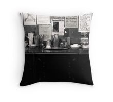 """""""At The Coffee Bar"""" Throw Pillow"""