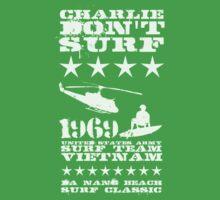 Surf team vietnam - Charlie Don't surf - White Kids Tee