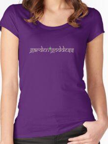 garden goddess brown Women's Fitted Scoop T-Shirt
