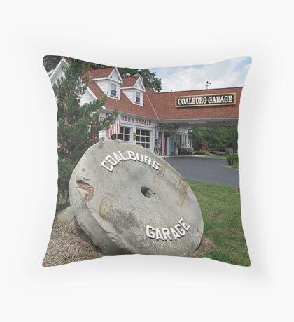 Coalburg Garage Throw Pillow