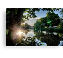 River Reflected Rays Canvas Print