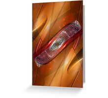 Auto Abstract - Burnt Orange Greeting Card