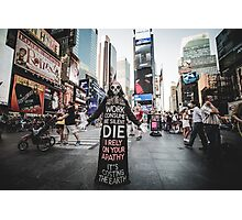 Greedozer in Times Square Photographic Print