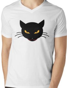 Evil Kitty Mens V-Neck T-Shirt