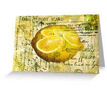 Postcard Lemons Greeting Card