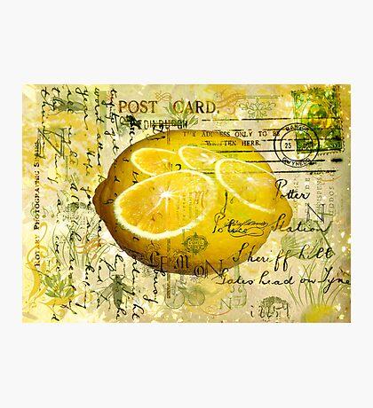 Postcard Lemons Photographic Print