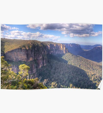 Govetts Leap, Blackheath, NSW Australia - The HDR Experience Poster