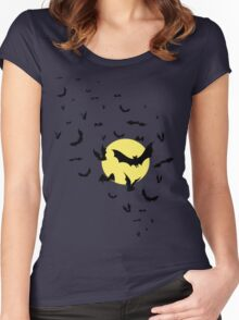 Bat Swarm Women's Fitted Scoop T-Shirt