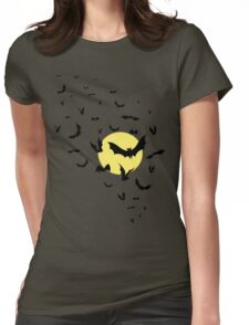 Bat Swarm Womens Fitted T-Shirt