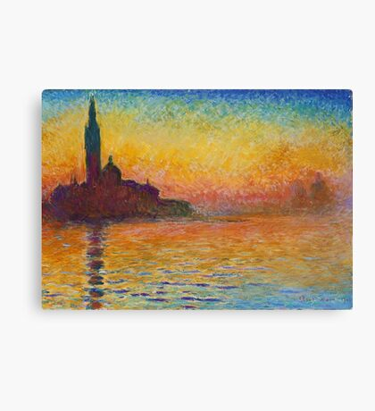 Claude Monet - Dusk in Venice Canvas Print