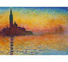Claude Monet - Dusk in Venice Photographic Print