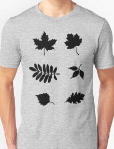 Bold Black Leaves Pattern Unisex T-Shirt