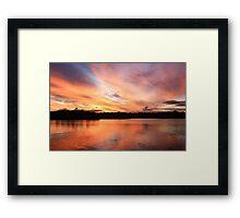 fire sky ... Framed Print