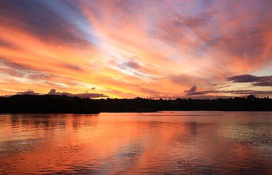 fire sky ... by gail woodbury
