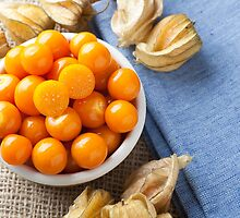 Physalis Fruit in Bowl by Charlotte Lake