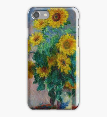 Claude Monet - Bouquet of Sunflowers iPhone Case/Skin