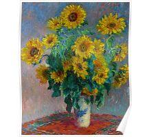 Claude Monet - Bouquet of Sunflowers Poster