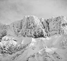 Tokachi mountain range mid winter by Neil Hartmann