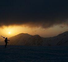 Tateyama Shimomura silloette sunset by Neil Hartmann