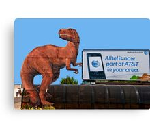 AT&T-Rex Ate Chad Canvas Print