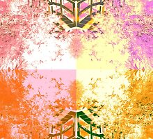 Bright landscape print by zoe-greggs